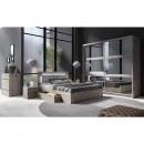 Hálószoba készlet (ágy+2x éjjeliszekrény+szekrény), tölgy welington, TOGOS