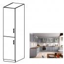 LAYLA D40SP - Magas szekrény, szürke matt/fehér, bal