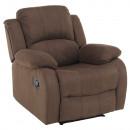 ASKOY - Állítható relaxáló fotel, barna szövet