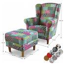 ASTRID fotel és puff M1-es színes szövettel