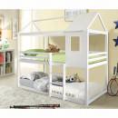 ATRISA - Montessori emeleteságy, fehér, 90x200