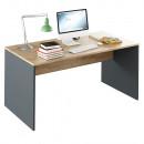 RIOMA NEW TYP 16 - Íróasztal, grafit/tölgyfa artisan