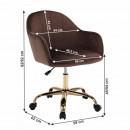Velvet anyag barna/gold króm arany, EROL - Irodai szék