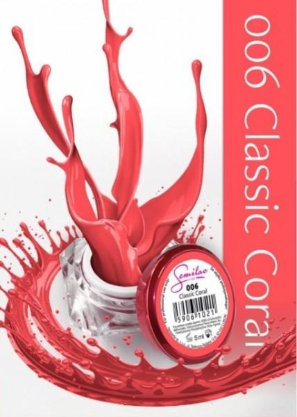 Gel color Semilac 006 Classic Coral