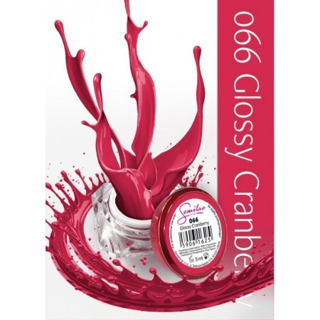 Gel color Semilac 066 Glossy Cranberry