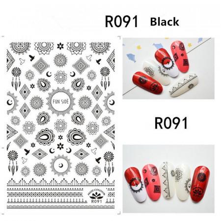 Sticker Black R091