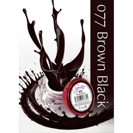 Gel color Semilac 077 Brown Black
