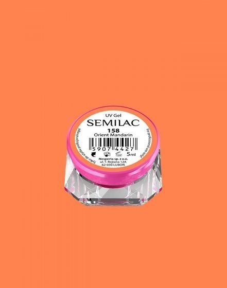Gel color Semilac 158 Orient Mandarin