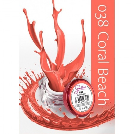 Gel color Semilac 038 Coral Beach