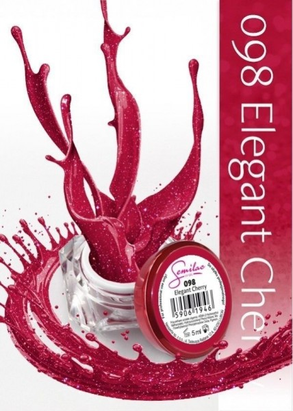 Gel color Semilac 098 Elegant Cherry
