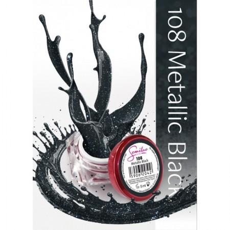 Gel color Semilac 108 Metallic Black