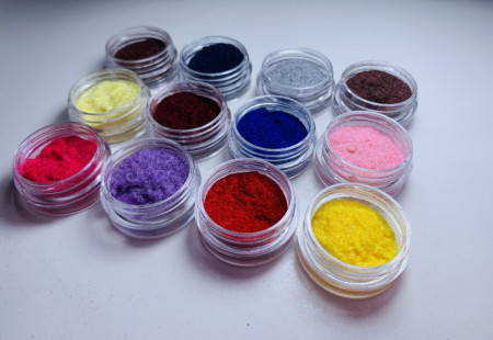 Catifea Unghii - Set 12 cutiute multicolore