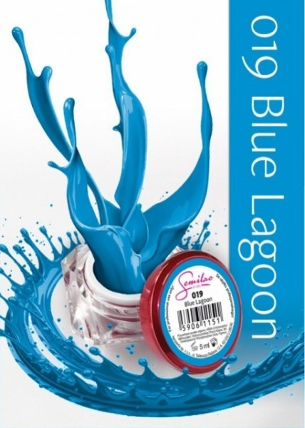 Gel color Semilac 019 Blue Lagoon