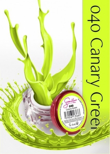 Gel color Semilac 040 Canary Green