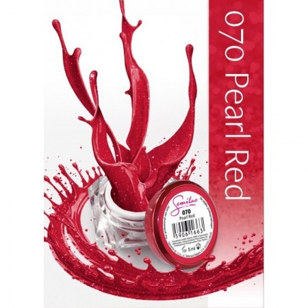 Gel color Semilac 070 Pearl Red