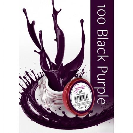 Gel color Semilac 100 Black Purple