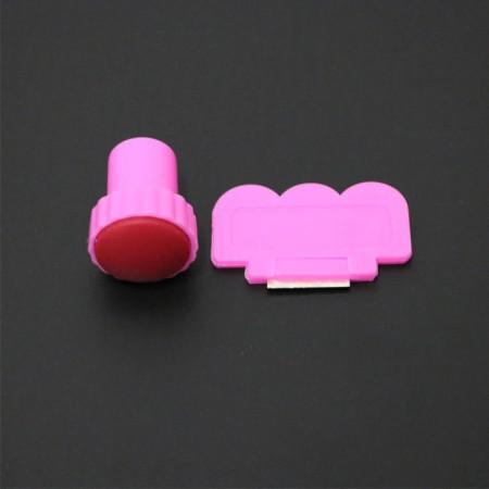 Set stampila Pink + racleta
