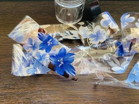 Folie de transfer blue flower