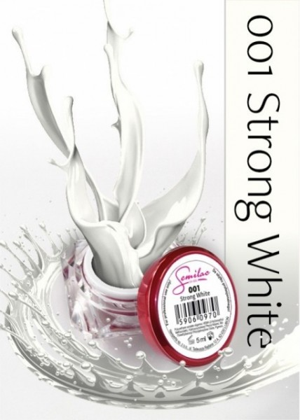 Gel color Semilac 001 Strong White