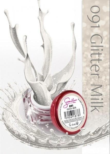 Gel color Semilac 091 Glitter Milk