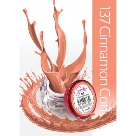 Gel color Semilac 137 Cinnamon Coffee