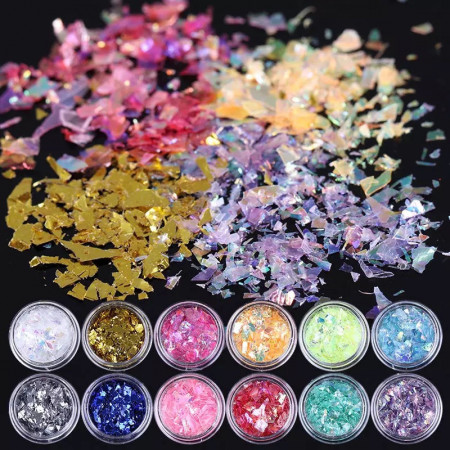 Paiete color set 12 cutiute - flakes