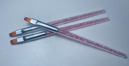 Pensula cu varf drept NR 6 cu cristale