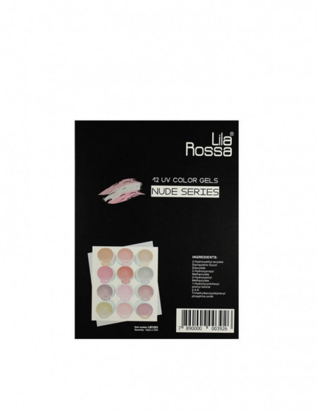 Set 12 geluri UV Nude Series Lila Rossa