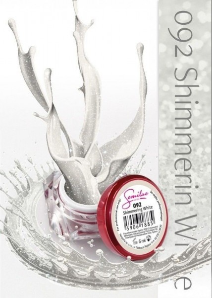 Gel color Semilac 092 Shimmering White