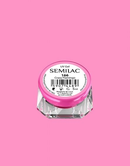 Gel color Semilac 166 Crazy Flamingo