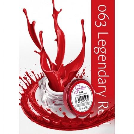 Gel color Semilac 063 Legendary Red