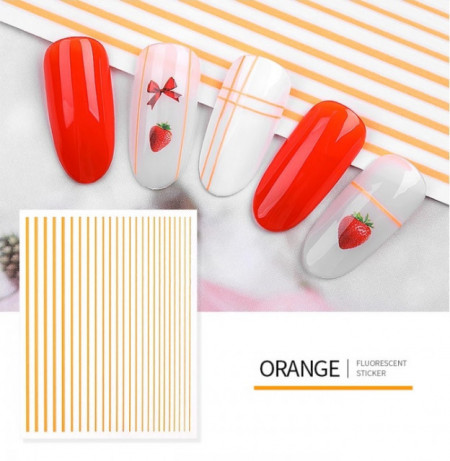 Sticker Neon Lines Orange