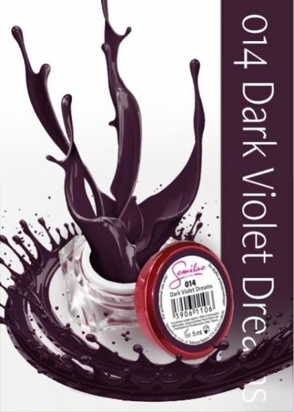 Gel color Semilac 014 Dark Violet Dreams