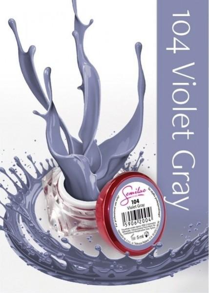 Gel color Semilac 104 Violet Gray
