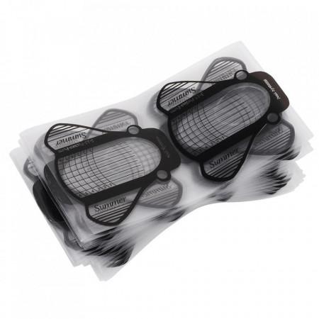 Sabloane pentru constructie unghii Plastifiate PVC 100buc
