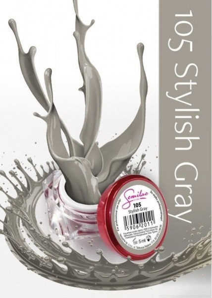 Gel color Semilac 105 Stylish Gray