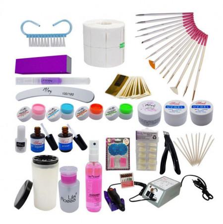 Kit gel UV cu freza electrica profesionala Sina