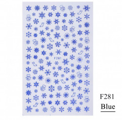Decor Craciun F281 blue