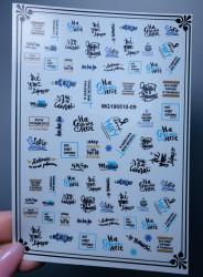 Decor unghii diferite mesaje black&blue