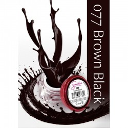Gel color Semilac 077 Brown Black