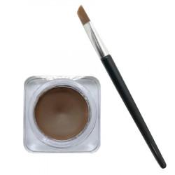 Gel Contur de Ochi / Sprancene cu Pensula Ultra-Rezistent Ushas Creamy Gel Eyeliner, 4 g, 03, coffee