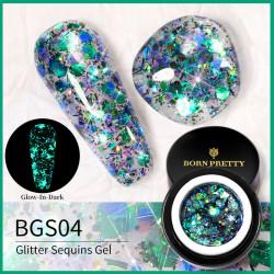 Gel Glitter Luminos Born Pretty 5g - BGS04