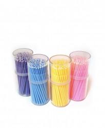 Microaplicatoare cu puf 100 bucati - diferite culori
