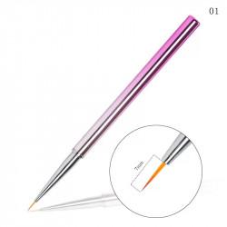 Pensula pentru pictura - linii foarte fine Pink