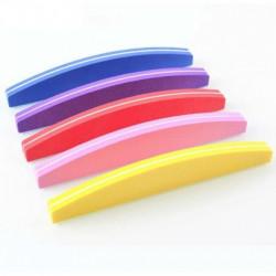 Set 10 pile pentru unghii refolosibila semiluna 100/180 - diferite culori
