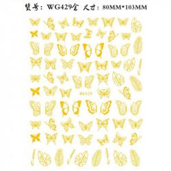 STICKER UNGHII GOLD - WG429