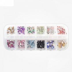 Cutie strasuri 12 compartimente diferite culori si forme #1