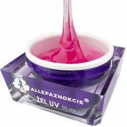 JELLY PINK GLASS 50 ml - Allepaznokcie
