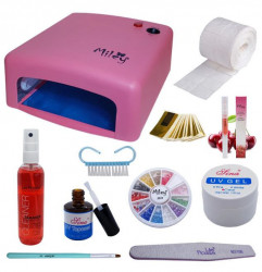 Kit Gel UV, Lampa UV Miley, Top Coat Sina, Ulei Cuticule