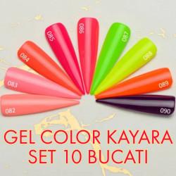 SET 10 x gel color premium UV/LED Kayara